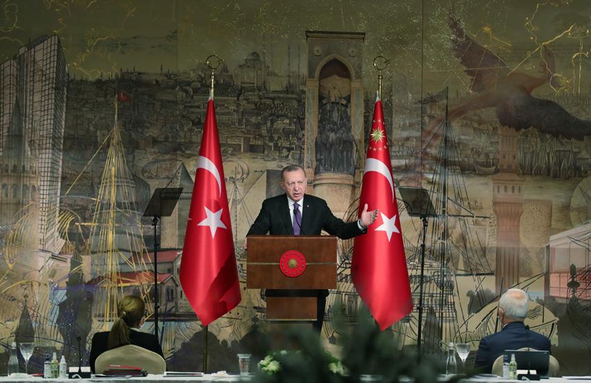 """Cumhurbaşkanı Erdoğan, """"Türkiye salgın sonrası döneme güçlü, dayanıklı ve rekabetçi bir küresel oyuncu olarak girecektir"""""""